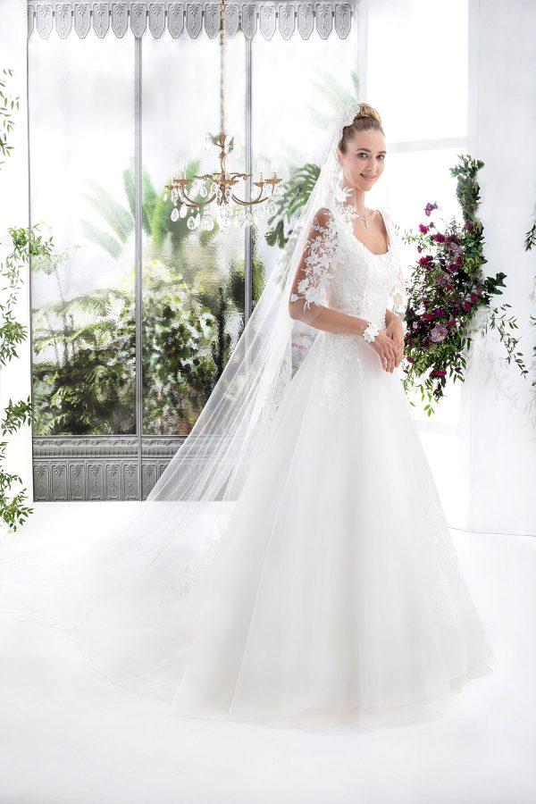 EGLANTINE CREATIONS 2021 Brautkleid EGC21 VEGETAL 3983 Brautmode in Berlin Avorio Vestito BrideStore and more