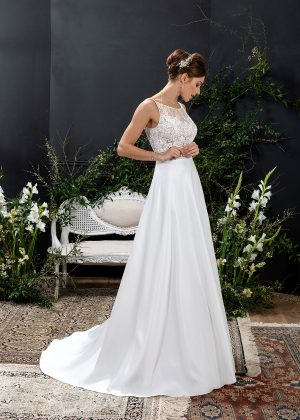 EGLANTINE CREATIONS 2021 Brautkleid EGC21 VERNIE 1646 Brautmode in Berlin Avorio Vestito BrideStore and more