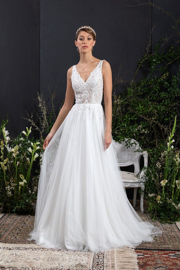 EGLANTINE CREATIONS 2021 Brautkleid EGC21 VERTUEUSE 0463 Brautmode in Berlin Avorio Vestito BrideStore and more