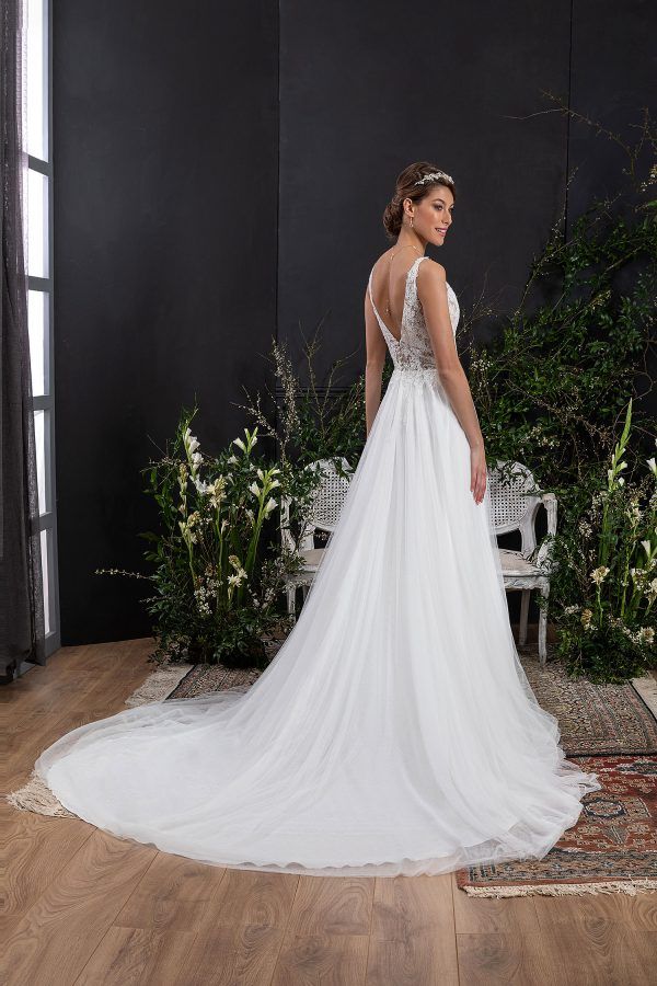 EGLANTINE CREATIONS 2021 Brautkleid EGC21 VERTUEUSE 0497 Brautmode in Berlin Avorio Vestito BrideStore and more