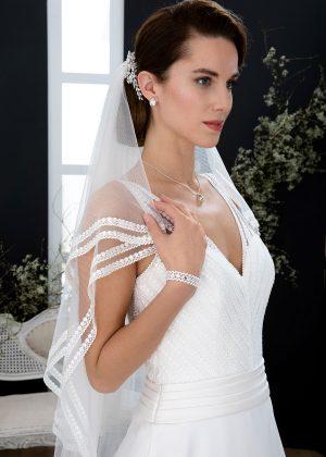 EGLANTINE CREATIONS 2021 Brautkleid EGC21 VIBRATION 4294 Brautmode in Berlin Avorio Vestito BrideStore and more