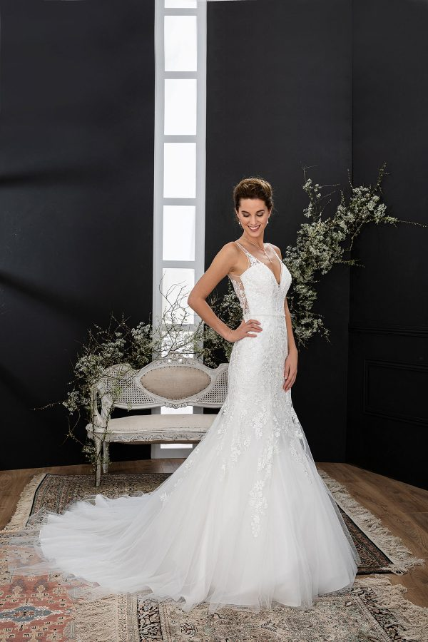 EGLANTINE CREATIONS 2021 Brautkleid EGC21 VIOLAINE 3593 Brautmode in Berlin Avorio Vestito BrideStore and more