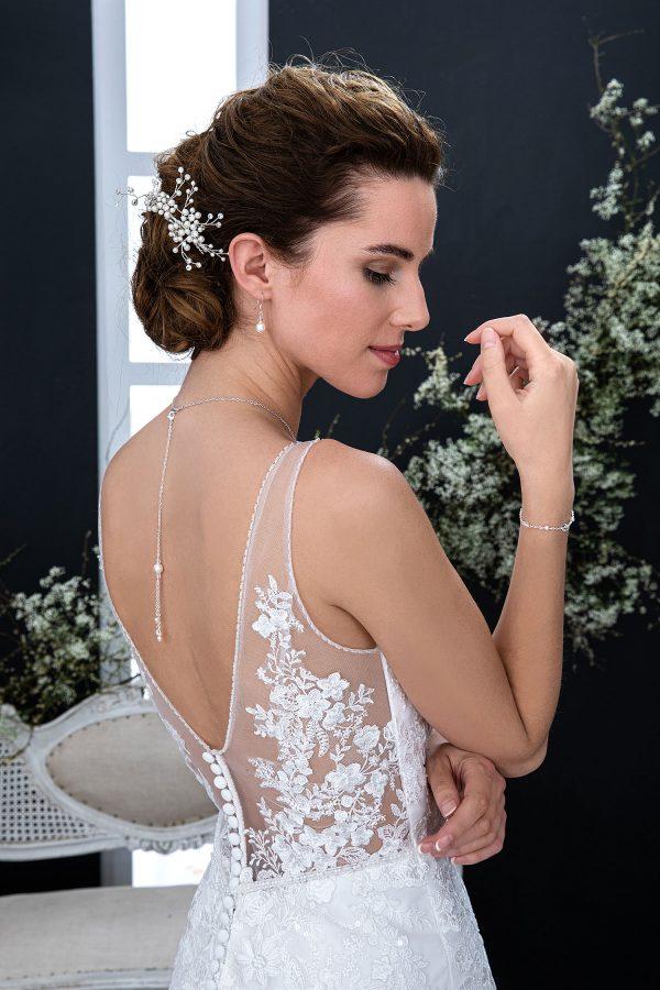 EGLANTINE CREATIONS 2021 Brautkleid EGC21 VIOLAINE 3679 Brautmode in Berlin Avorio Vestito BrideStore and more