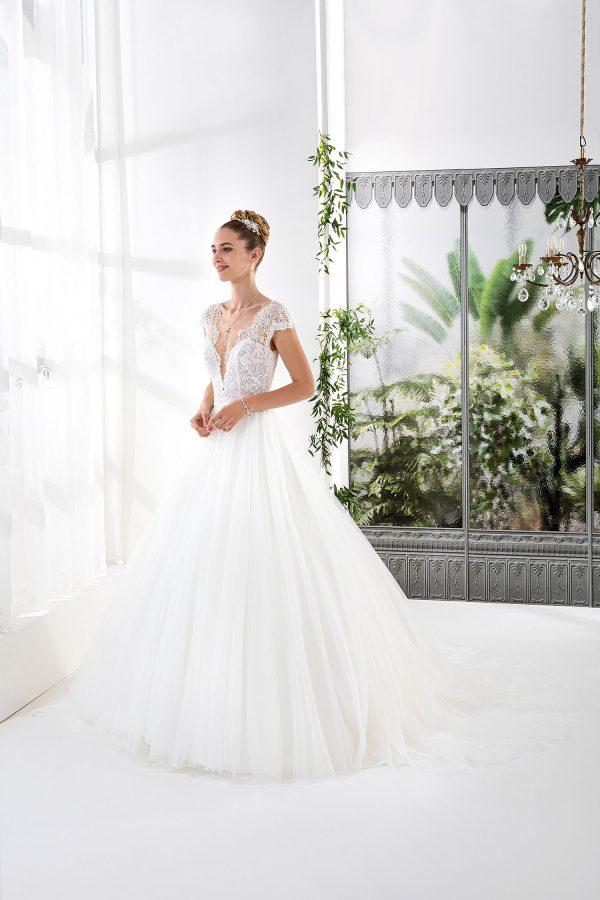 EGLANTINE CREATIONS 2021 Brautkleid EGC21 VOLVIC 4350 Brautmode in Berlin Avorio Vestito BrideStore and more