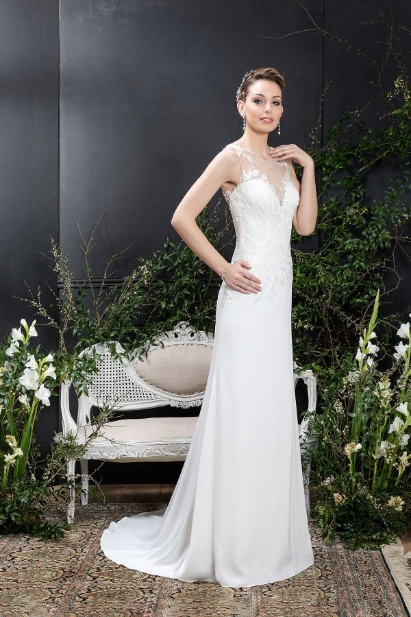EGLANTINE CREATIONS 2021 Brautkleid EGC21 VOYANCE 0910 Brautmode in Berlin Avorio Vestito BrideStore and more