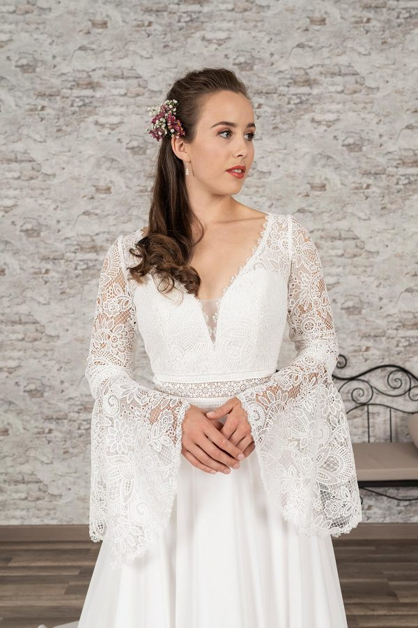 Fuchs Moden 2021 Brautkleid D 03369 (3) Brautmode in Berlin Avorio Vestito BrideStore and more
