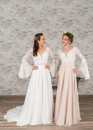Fuchs Moden 2021 Brautkleid D 03369 + D 03370 Brautmode in Berlin Avorio Vestito BrideStore and more