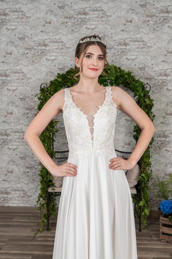 Fuchs Moden 2021 Brautkleid D 03398 (3) Brautmode in Berlin Avorio Vestito BrideStore and more