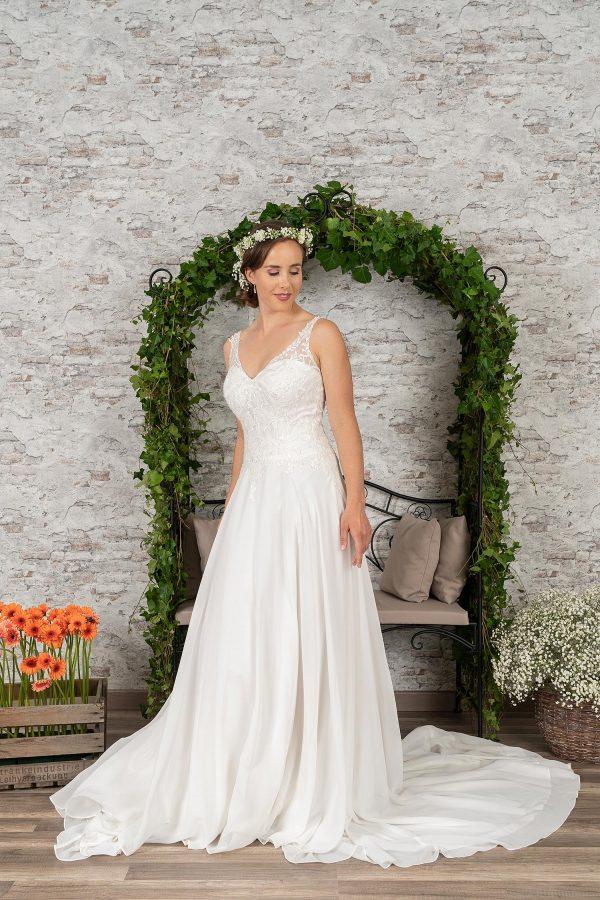 Fuchs Moden 2021 Brautkleid D 03408 (2) Brautmode in Berlin Avorio Vestito BrideStore and more