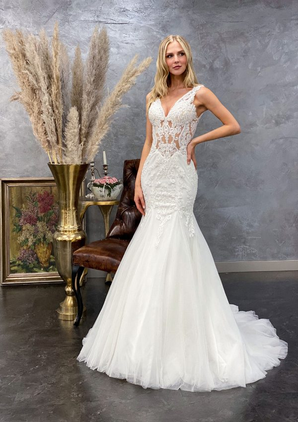 Miss Germany 2021 Brautkleid MGB62 2 Avorio Vestito BrideStore and more Brautmode in Berlin